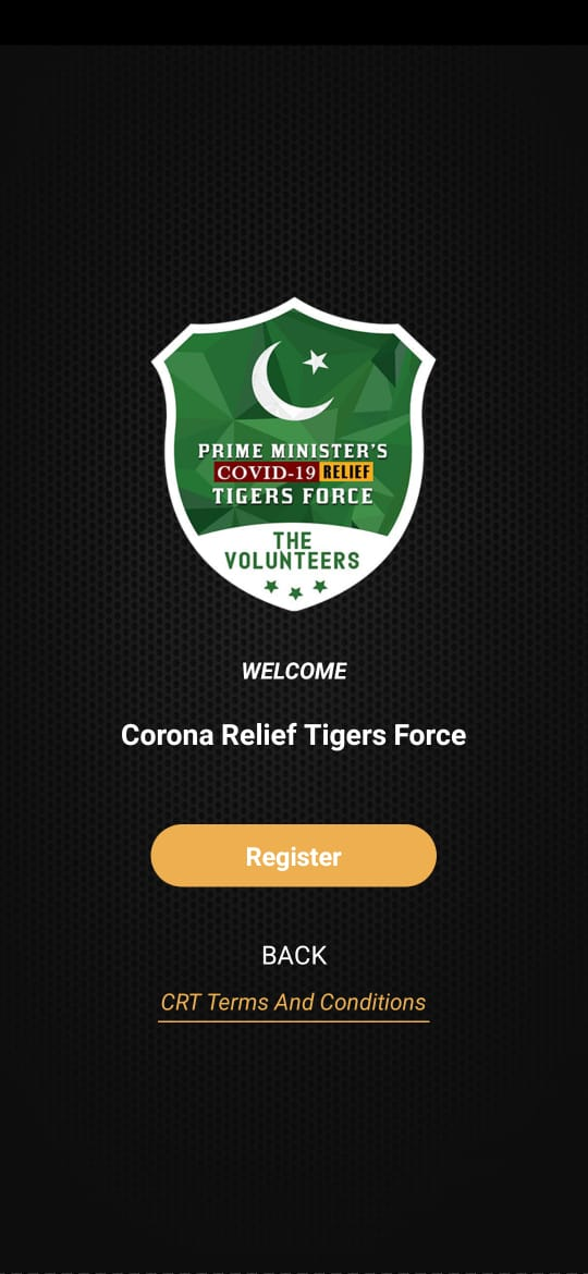 corona relief tiger force registration