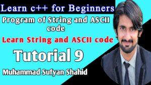 learn C++ Tutorial 9