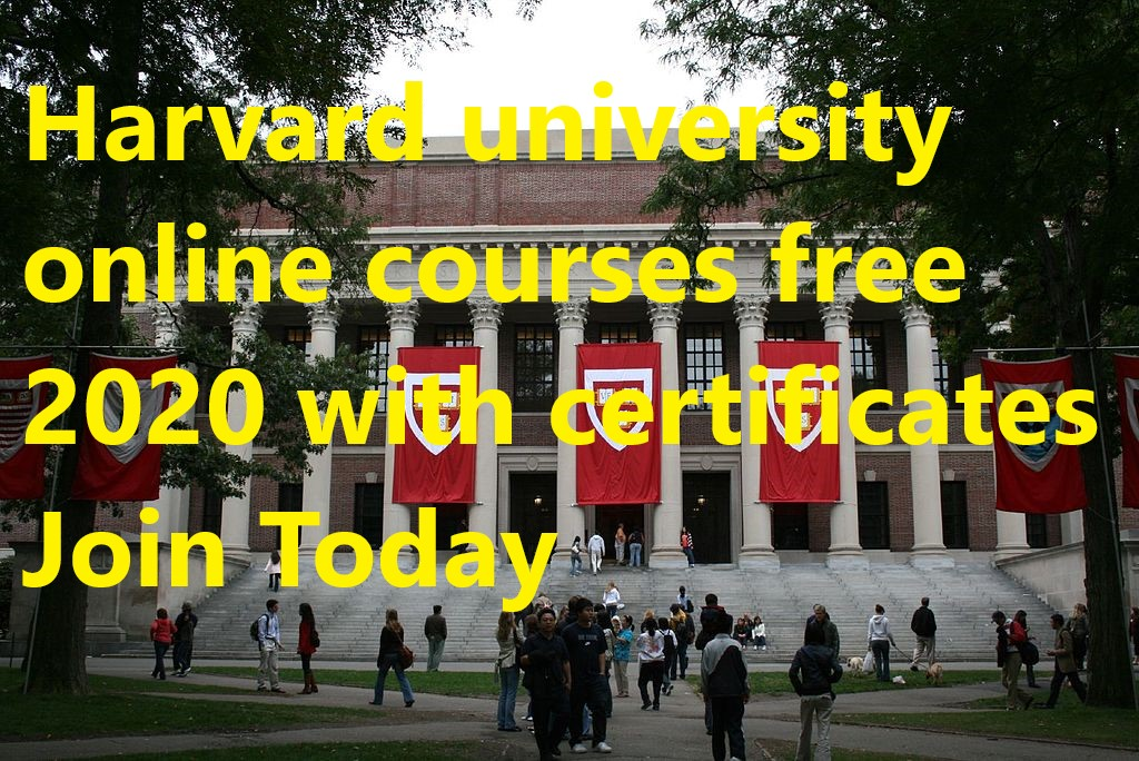 Harvard university online courses free 2020 with certificates