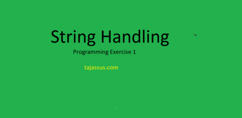 String Handling Programming Exercise 1 in C/C++ October 29, 2020Ali Ashfaq What is String in C/C++?