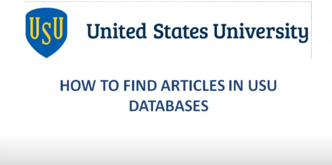 How to find articles in the USU library to databases?