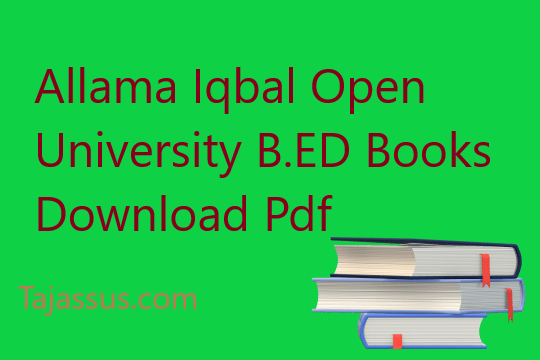 aiou book download b.ed