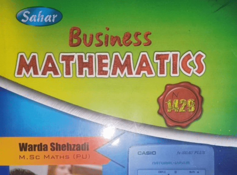 Business Mathematics Code 1429 for BA / B.Com AIOU Solved Notes Download Free