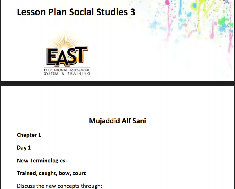 Social Studies Lesson plans for B.ed/ M.ed teaching practices (8607_8608) new pattern in 2021