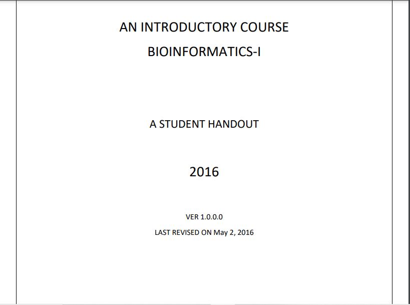 BIF401/BIOINFORMATICS-I Virtual University Lesson Handout Pdf