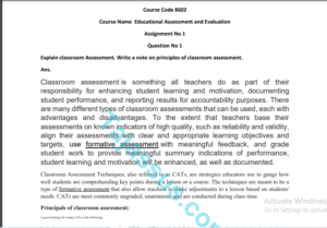 8602 AIOU Solved Assignment No.1 2020 (Educational Assessment and Evaluation ) Download