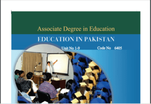 6405/EDUCATION IN PAKISTAN AIOU B.ED Book Download