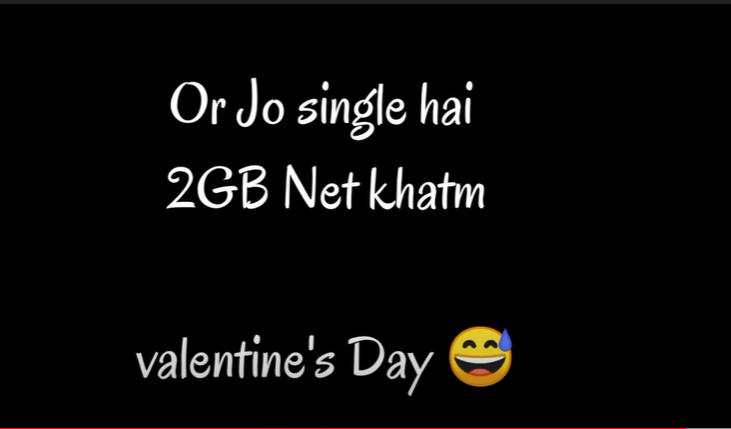 Funny Single Valentines day What's app Status Download