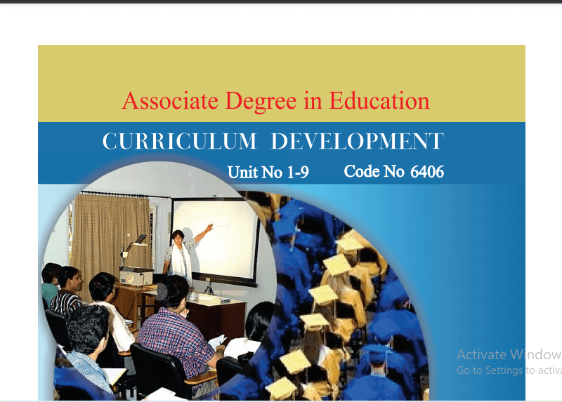 6406/CURRICULUM DEVELOPMENT AIOU B.ED Book Download