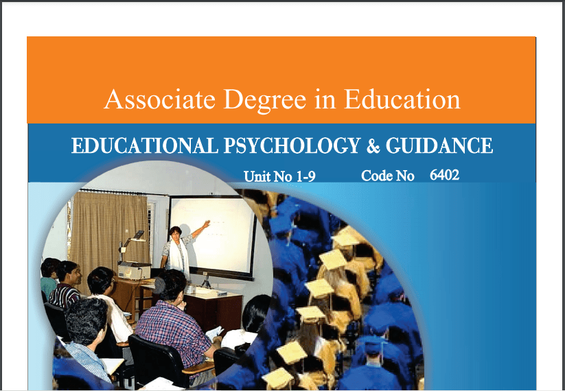6402/EDUCATIONAL PSYCHOLOGY & GUIDANCE AIOU B.ED Book Download