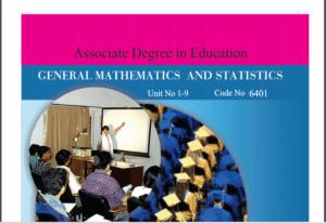 6401/GENERAL MATH AND STATISTICS AIOU B.ED Book Download