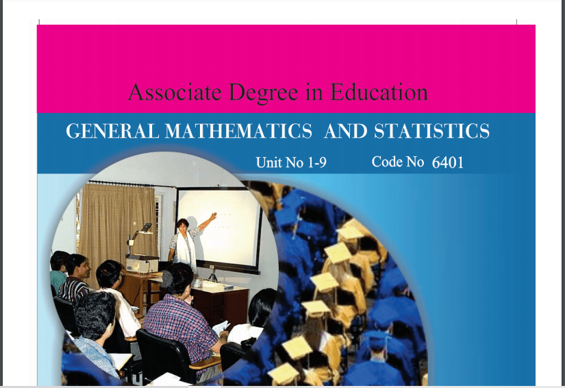 6401/GENERAL MATH AND STATISTICS AIOU B.ED Book Download