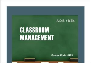 6403/CLASSROOM MANAGEMENT AIOU B.ED Book Download