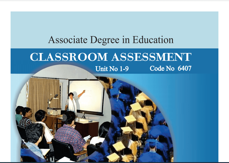 6407/CLASSROOM ASSESSMENT AIOU B.ED Book Download