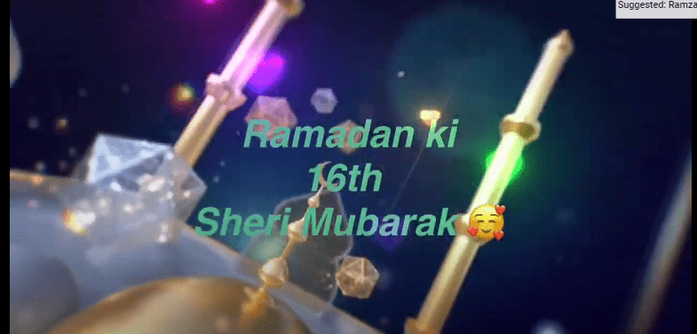 Ramzan ki 16th SEHRI MUBARAK Status Download 2021