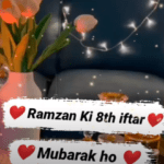 8th Iftar Mubarak Status Video Download