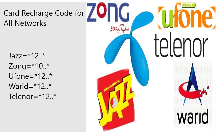 Card Recharge Code for all Networks