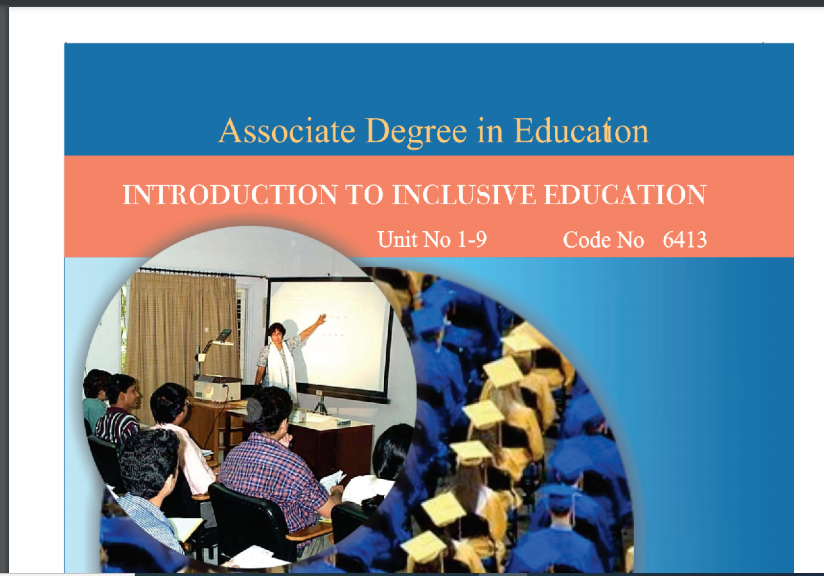 6413/INTRODUCTION TO INCLUSIVE EDUCATION AIOU B.ED Book Download
