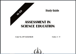 6436/ASSESSMENT AND EVALUATON AND SCIENCE EDUCATION AIOU B.ED Book Download