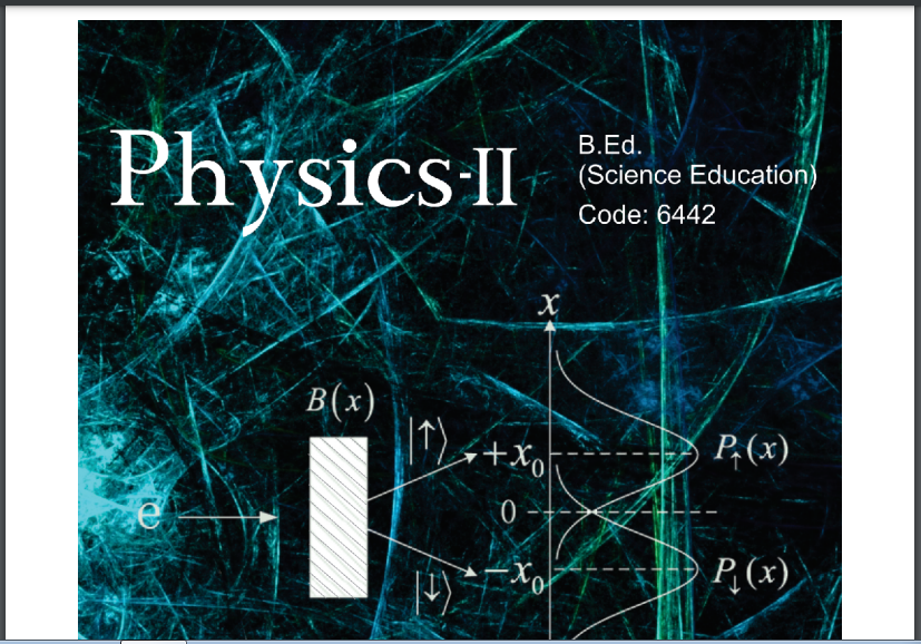 6442/PHYSICS-II AIOU B.ED Book Download