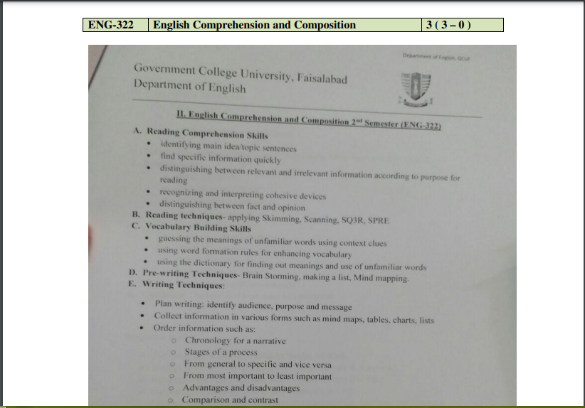 ENG-322 English Comprehension and Composition pdf Book Download