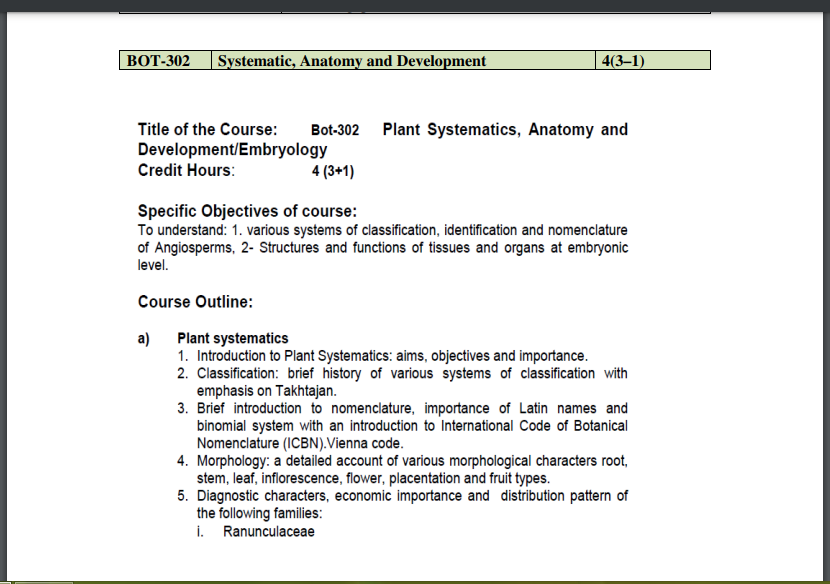 BOT-302 Systematic, Anatomy and Development Pdf Book Download